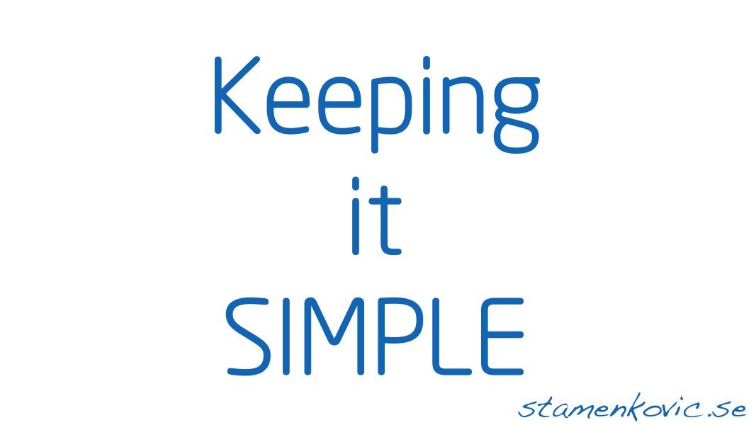 Keeping it simple