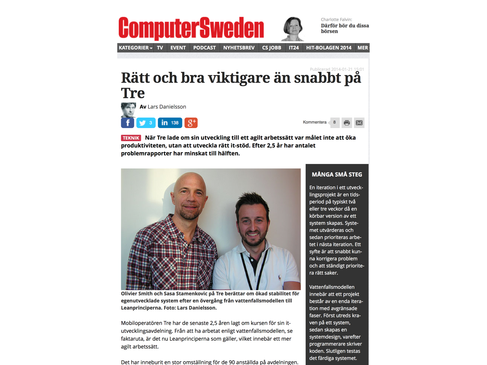 Sasa at Computer Sweden